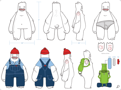 Bill the Yeti Turnaround Sheet
